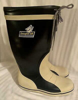 £15 • Buy Douglas Gill Tall Yachting Deck Boots Wellingtons Size 3