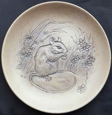 £3 • Buy Mouse Eating A Nut Poole Stoneware 5  Plate Designed By Barbara Linley Adams