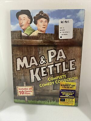 $15.95 • Buy Ma And & Pa Kettle Complete 10 Film Series DVD Boxed Set Movie Collection NEW!