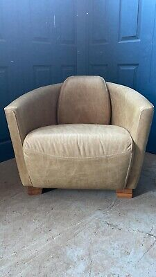 £375 • Buy Superb Timothy Oulton Halo Aviator Rocket Leather Tub Chair