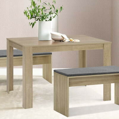 AU93.40 • Buy Artiss Dining Table 4 Seater Wooden Kitchen Tables Oak 120cm Cafe Restaurant