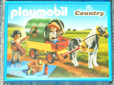 £9.99 • Buy PLAYMOBIL 6948 NEW Pony & Cart, Children & Picnic, Fab Horse Set For Your Stable