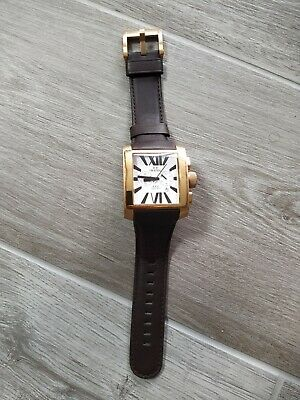 £20 • Buy T W Steel Stainless Gold Col CE3009 Rectangular Watch Spares Repair New Strap