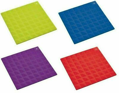 £4.95 • Buy Colourworks Heat Resistant Silicone Stylish Square Trivet Or Hot Mat 16cm/6.2