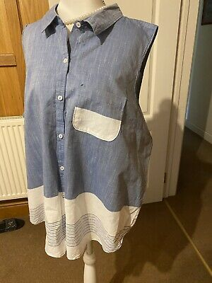 £1.20 • Buy Denim Chambray Look Blouse Shirt. 18-20. Worn Once. Atmosphere