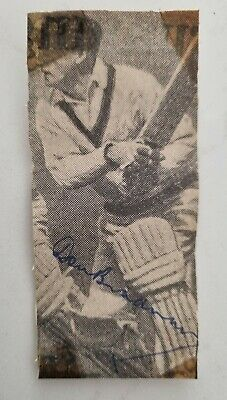 AU89 • Buy Don Bradman Circa 1950 Signed Small Vintage Newspaper Picture Cricket Sir Donald