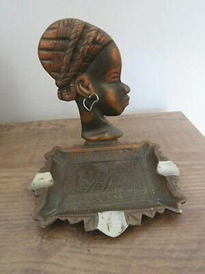 £8 • Buy Copper/ Bronze???? African  Lady   Ash Tray .