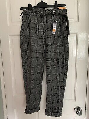 £1.40 • Buy M & S Grey Checked Trousers Size 10 Short