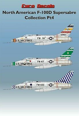 £11.95 • Buy Euro Decals Water Slide Transfers North American F-100d Super Pt4  Ed72-134