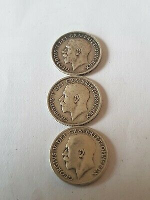 £6.50 • Buy 3 X Silver Sixpence 1913, 1915, 1916 George V