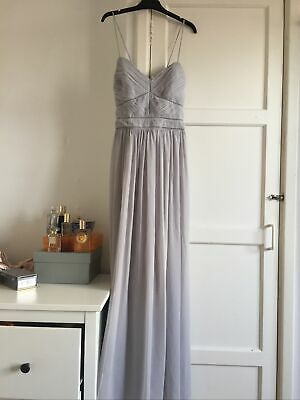£24.99 • Buy New! Oasis Uk 14 Grey Maxi Special Event Long Chiffon Party Dress Delicate