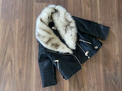 £12 • Buy River Island 3-6 Months Baby Girl Leather Jacket With Fur Collar