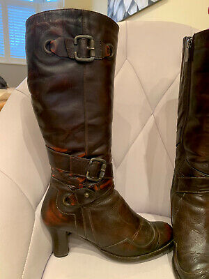 £9.99 • Buy Red Herring Winter Distressed Real Leather Boots Fur Lining Size 7 40