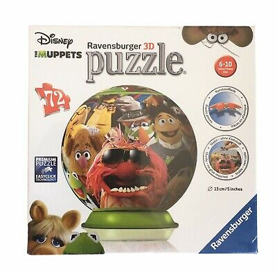 $15.99 • Buy Ravensburger 3D The Muppets Puzzle Ball 72 Pieces Age 6 + Game Toy New & Sealed