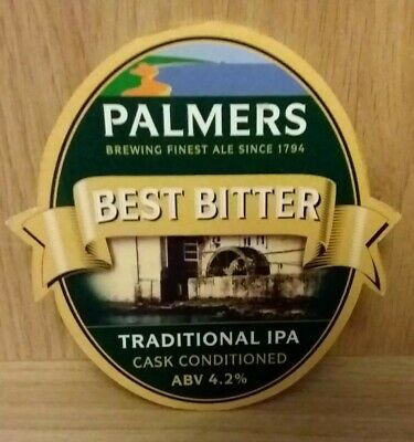 £3.99 • Buy Palmers Brewery - Best Bitter - Beer Pump Clip Front