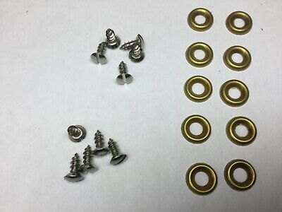 $12 • Buy 10 Each Seat Upholstery Screws And Cup Washers MB GPW M38 CJ2A WILLYS WW2