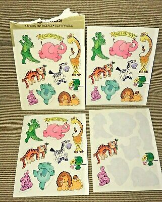 £10.61 • Buy  Vintage 1983 Hallmark Crazy Critters Stickers 3 Full Sheets 1 Partial Sheet