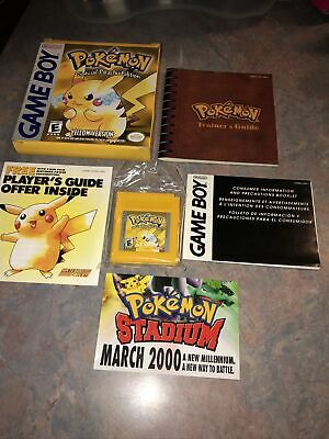 $499.99 • Buy Pokemon Yellow Version Special Pikachu Edition Gameboy Complete In Box Pre-Owned