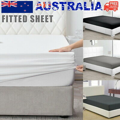 AU17 • Buy 2000TC Ultra Soft Fitted Bed Sheet Single/Double/Queen/King/Super King AU Stock