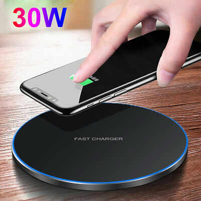 AU21.98 • Buy 30W 15W Qi Wireless Charger Mat Pad Fast Charging For IPhone 12 Pro Samsung S21+