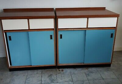 £100 • Buy Vintage/retro 2 X 2 Drawer Wrighton Kitchen Cupboards Approx 1960's