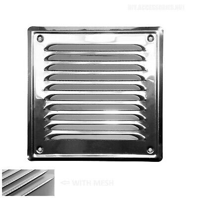 £4.49 • Buy STAINLESS STEEL 165x165 Mm Metal Louvre Air Vent Grille Cover Metal Ventilation