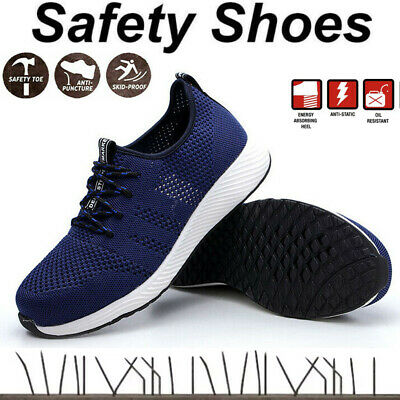 £25.99 • Buy Men's Safety Shoes Steel Toe Cap Trainers Work Boots Sports Sneakers UK 5-10