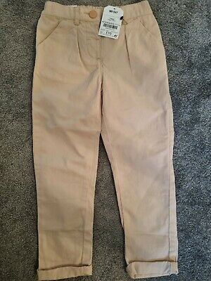 £5 • Buy Girls Aged 3-4 Beige Chino Style Trousers Next