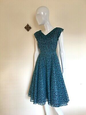 £40 • Buy Vintage Unbranded 1950s Dress Full Skirt With Stiff Petticoats Free🇬🇧Delivery