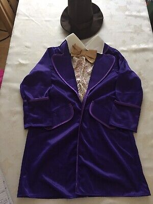 £5 • Buy Charlie & Chocolate Factory Willy Wonka Fancy Dress Outfit Size 7-9 Years