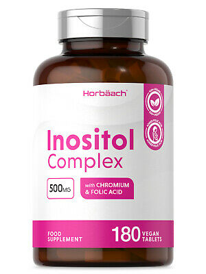 £9.99 • Buy Inositol Complex | 180 Tablets | With Myo-Inositol Folate & Chromium | PCOS