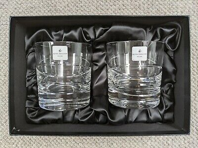 £5 • Buy Brand New Set Of 2 Royal Doulton Tumblers - Stunning Fine Hand Cut Lead Crystal
