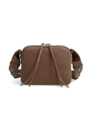 £72 • Buy BNWT All Saints Chocolate Brown Leather Vincent Crossbody Bag