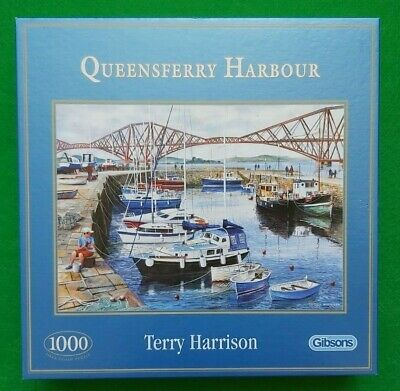 £4.46 • Buy Queensferry Harbour – Gibsons 1000 Piece Jigsaw Puzzle - Complete