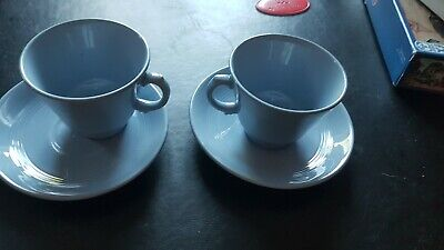 £7 • Buy 2 X Woods Ware Iris Retro Cups And Saucers