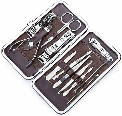 £3.99 • Buy 12 Pcs Nail Care Kit Cutter Set Clippers Manicure Pedicure Cuticle Tool Gift Set