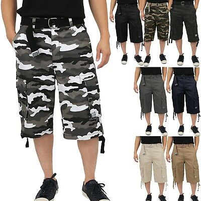 $29.99 • Buy Proclub TWILL CARGO SHORTS Casual Pants Mens Authentic Classic Multi Pockets