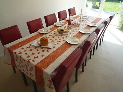 £30.31 • Buy Tablecloth Provence 150x350 CM Terracotta White France Easy-Care Non-Iron