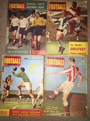 £3 • Buy Charles Buchan's Football Monthly 4 Editions 1961 62