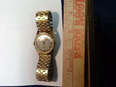 £35.39 • Buy 1979 Timex Marvin England W/ Date Automatic Gold Plated Dial 23429 England 02579