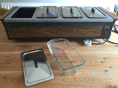 £21 • Buy Ekco Hostess Counter Top Electric Buffet Server/Warming Tray With 4 Dishes