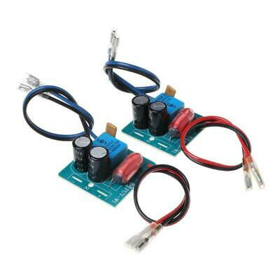 AU10.21 • Buy 2pcs 60W 2 Way Speaker Crossover Board Bass Tweeter Frequency Divider For 2-4