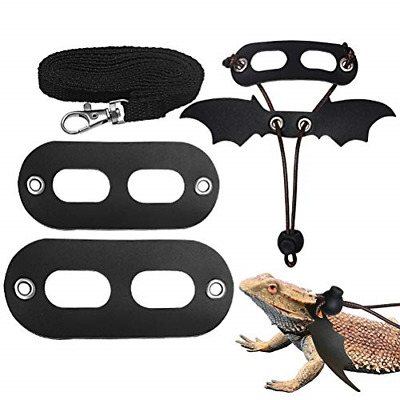 £6.47 • Buy Nuoshen 5 Pack Bearded Dragon Harness And Leash AdjustableS,M,L Soft Leather For