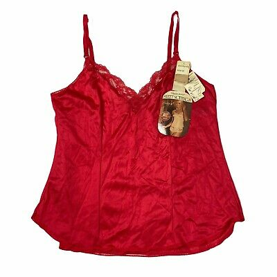 $15.99 • Buy Maidenform VTG Sweet Nothings Camisole NOS 70s Red Anti Cling Tank ILGWU 36
