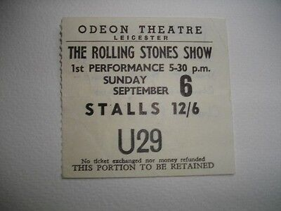 £110 • Buy Rolling Stones Ticket Leicester Odeon 06/09/64