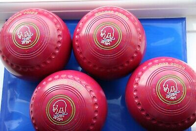 £145 • Buy Drakes Pride Professional Lawn Bowls Size 4H, Maroon And Red Speckled