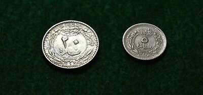 £5 • Buy Two Silver Arabic/egyptian Silver Coins