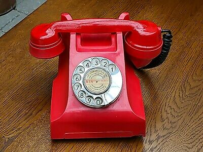 £195 • Buy RED BAKELITE G.P.O COPY No. 164, 234, PL35, TELEPHONE CONVERTED