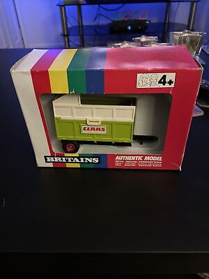£4.99 • Buy Britains 9566 Claas Tipping Silage Trailer Boxed Excellent