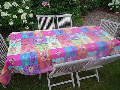£30.20 • Buy Tablecloth Non-Iron 150x350 CM Pink Turquoise France Provence Easy-Care